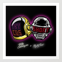 The helmets Art Print