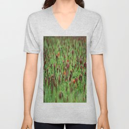 Poppies in the Field Unisex V-Neck