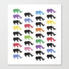 Rhino paper Canvas Print