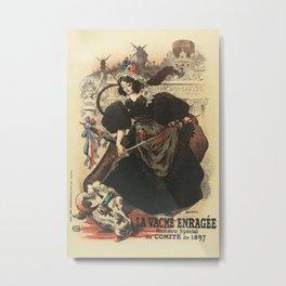 The rabid cow parade Paris 1897 Metal Print