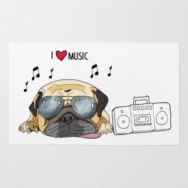 I love music-rock pug Rug