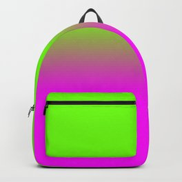 Neon Green and Hot Pink Ombré  Shade Color Fade Backpack