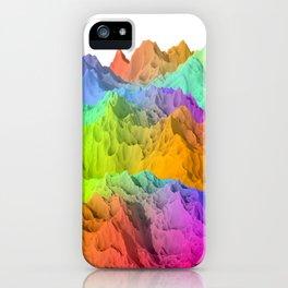 Holopunk Mountains iPhone Case