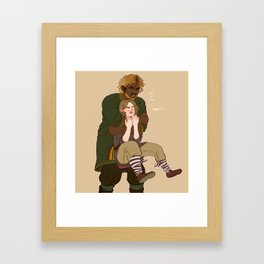 Hug Series: Gold Framed Art Print