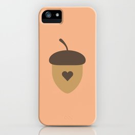 Acorn with heart T-Shirt for Women, Men and Kids iPhone Case