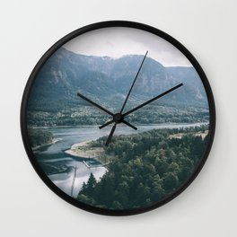 Columbia River Gorge IV Wall Clock