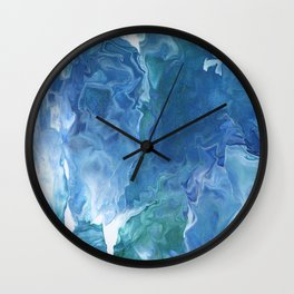 Blue Thunder by Julia Duerler Wall Clock