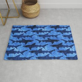 Sharks in the Blue, Blue Sea Rug
