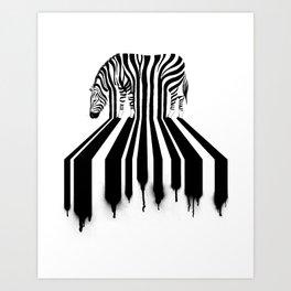 Zebra Crossing Art Print