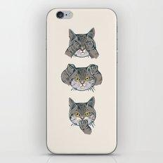 No Evil Cat iPhone Skin