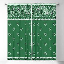 Classic Green Bandana Blackout Curtain