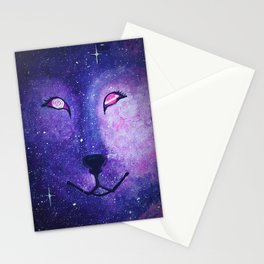 Serendipity - Wolf Dog Painting Stationery Cards