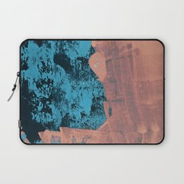 Delight [4] in pink: a pretty minimal abstract piece in blues and pink by Alyssa Hamilton Art Laptop Sleeve
