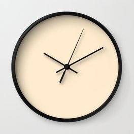 Blanched Almond Wall Clock