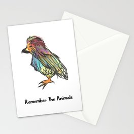 Remember The Animals Bird T-Shirt Stationery Cards