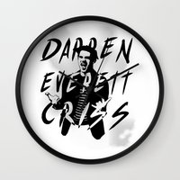 darren criss Wall Clocks featuring Darren Criss by kltj11