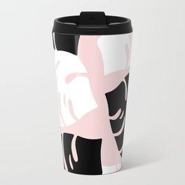 Palm Leaves on Pink Travel Mug
