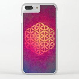 Flower Of Life (Light Within) Clear iPhone Case