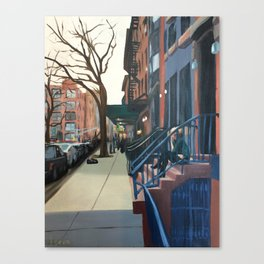 Woman on the Stoop, West 21st Street Canvas Print