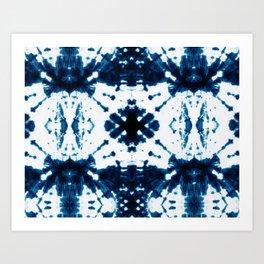 Velvet Shibori Blue Art Print