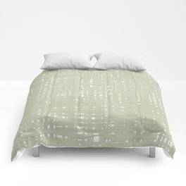 Green straw background Comforters