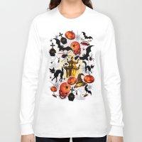 saga Long Sleeve T-shirts featuring Halloween Spooky Cartoon Saga by BluedarkArt