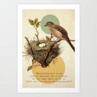 to kill a mockingbird Art Prints featuring To Kill A Mockingbird by Carol Knudsen Photographic Artist