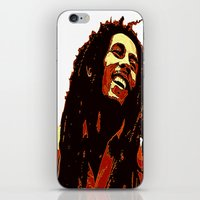 reggae iPhone & iPod Skins featuring the god of reggae by  Agostino Lo Coco