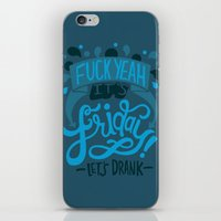 friday iPhone & iPod Skins featuring Friday by Aimee Brodbeck