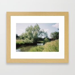 Bridge over River Bure, Ingorth, Norfolk Framed Art Print