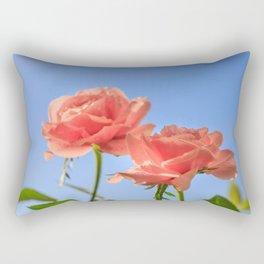 Kiss of a coral rose Rectangular Pillow