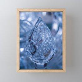 BLUE SAPPHIRE CUT GLASS JEWEL Framed Mini Art Print