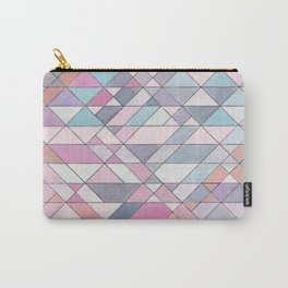 Triangle Pattern no.25 Light Pink Carry-All Pouch