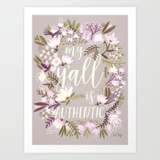 My Y'all is Authentic – Spring Palette Art Print