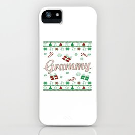 Grammy Christmas iPhone Case