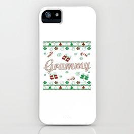 Grammy Christmas iPhone Case