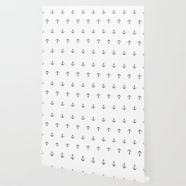 Many stamped black anchors Wallpaper