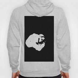 White-and-black dog Hoody