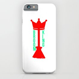 King Broom Challenge Funny Broomstick iPhone Case