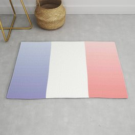 Flag of France -with color gradient Rug