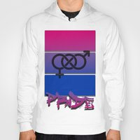 bisexual Hoodies featuring Bisexual Pride! by Creature Creation Cafe