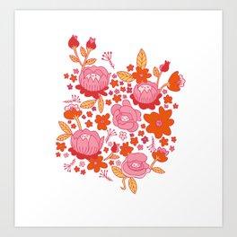 Floral Folk Art Print