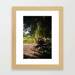 Smiling Tractor Framed Art Print