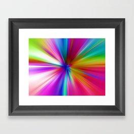 Rainbow Zoom Framed Art Print