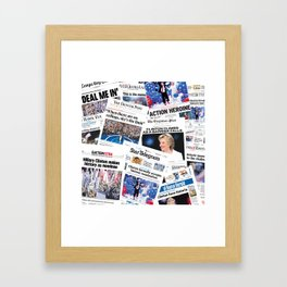Hillary 2016 Historic Front Pages Framed Art Print