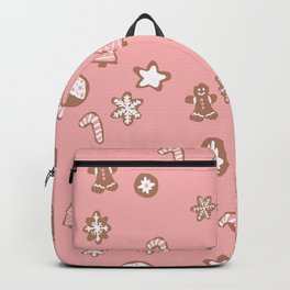 Christmas cookies pattern pink Backpack