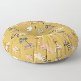 Hands in Art History Floor Pillow
