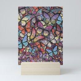 butterflies aflutter colorful version Mini Art Print