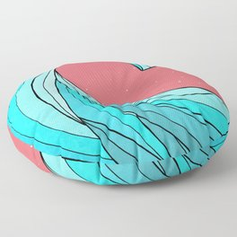 The Lone Wave Floor Pillow