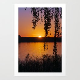 Beautiful sunset over lake #2 Art Print